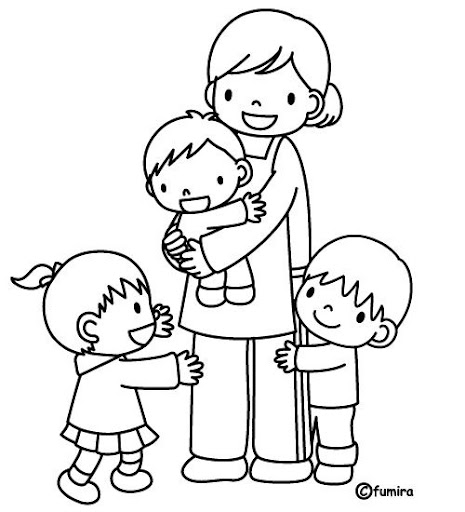 Maestra De Kinder Dibujo Para Colorear Imagui