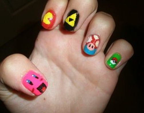 gamer_nails_by_happylod3