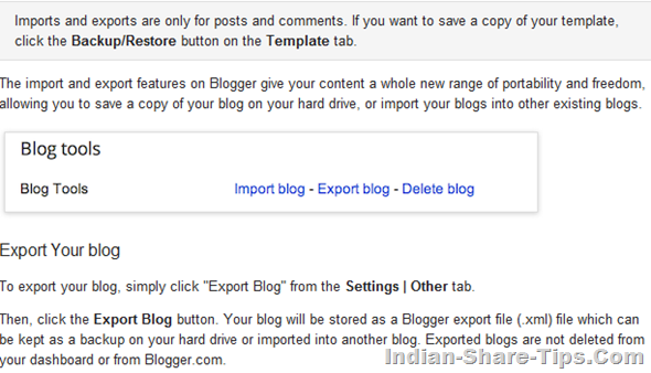 How to save a copy of blogger blog