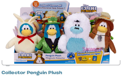 "9"" Penguin Plush Toys Club Penguin Wave 16 :)"