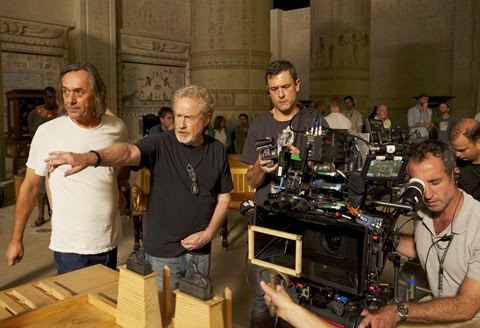 ridley scott on the set of EXODUS GODS&KINGS