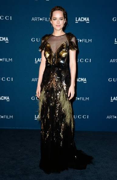 Dakota Johnson arrive at the LACMA 2013 Art   Film Gala