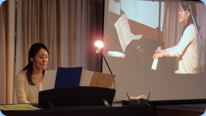 Kuniko Nakatani playing our Clavinova CVP-509. Photo courtesy of Dennis Lyons.