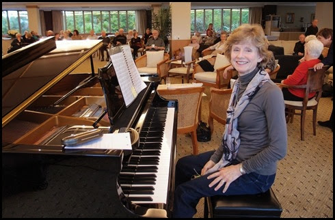 Our guest artist, Denise Gunson, played the grand pinao for us. Photo courtesy of Dennis Lyons