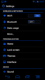 JB Extreme Theme Blue CM11 - screenshot thumbnail