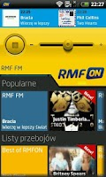 Screenshot of RMFon.pl (Internet radio)