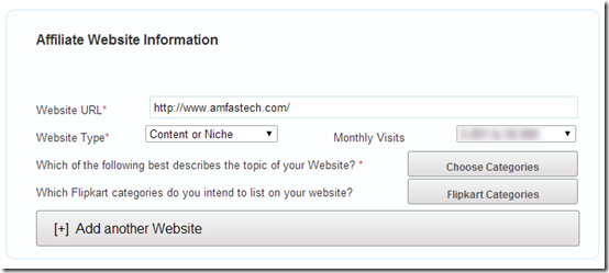affiliate website info