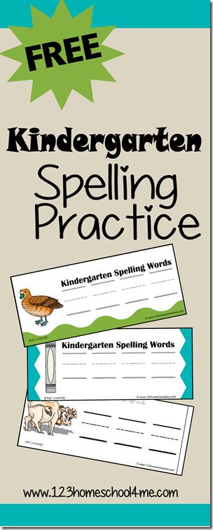 Spelling Games - FREE Kindergarten Spelling Practice Printables
