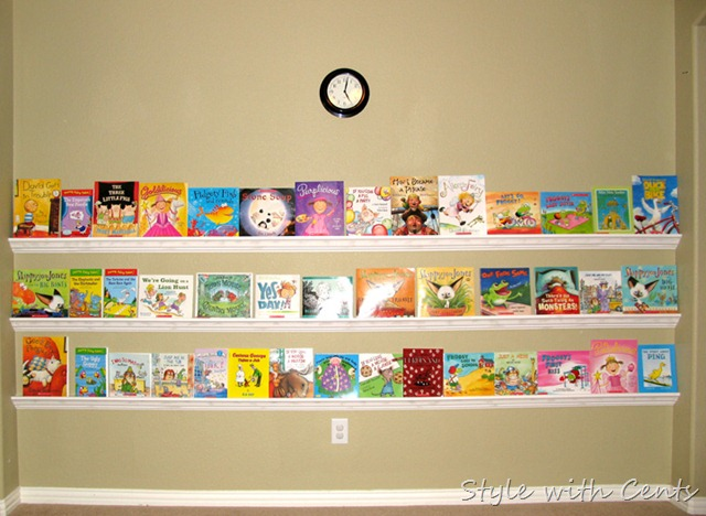 Style With Cents How To Make Rain Gutter Bookshelves