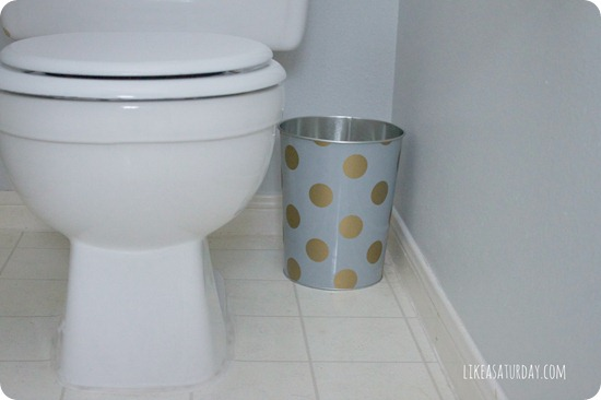 polka dot trash can
