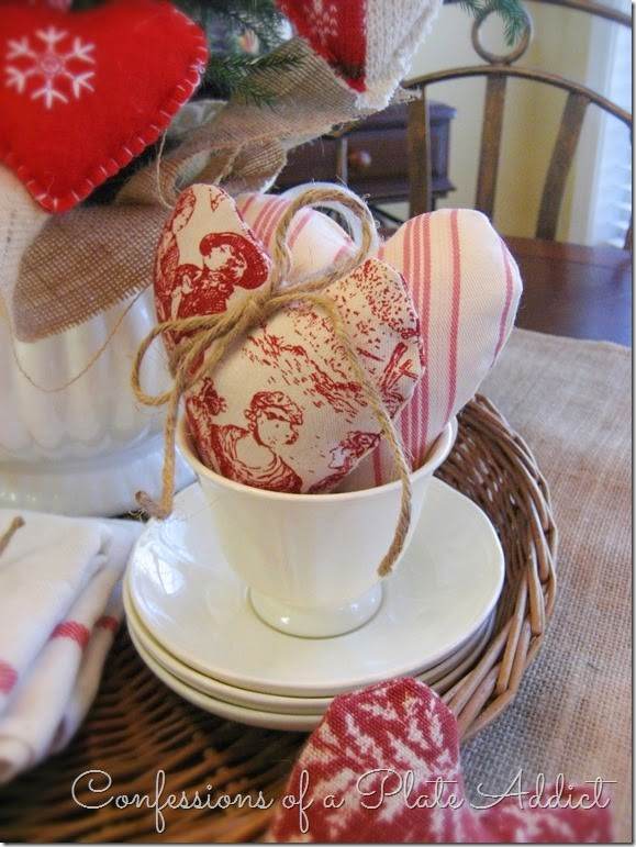 CONFESSIONS OF A PLATE ADDICT Simple Farmhouse Valentine Centerpiece