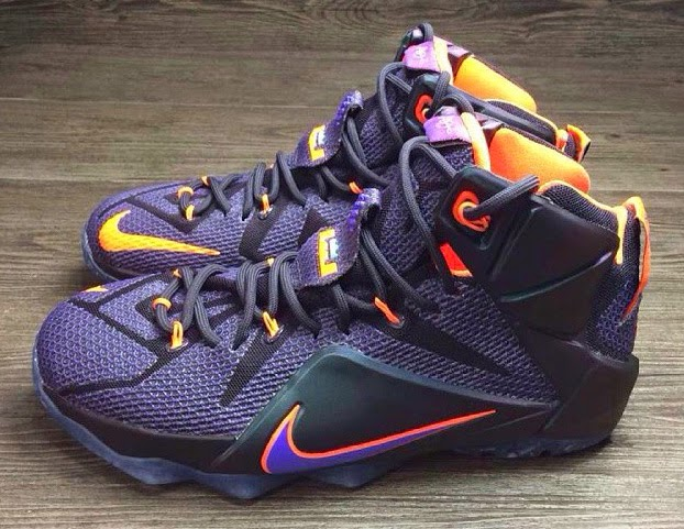 quality design b64f1 67c3f ... buy another look at the nike lebron 12 in purple and orange 8ddd4 dd2b9