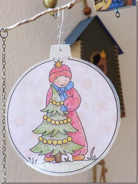 Voor Mij Voor Jou Kerstbal Kleurplaat