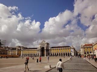La Praça do Comércio (Place du Commerce en français) à Lisbonne