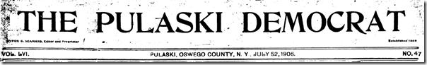 Pulaski民主党,1906年7月52日
