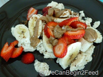 Egg Whites Strawberries and Bananas