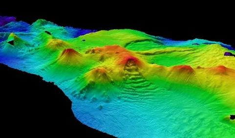 12 vulcões submarinos gigantes na Antártida