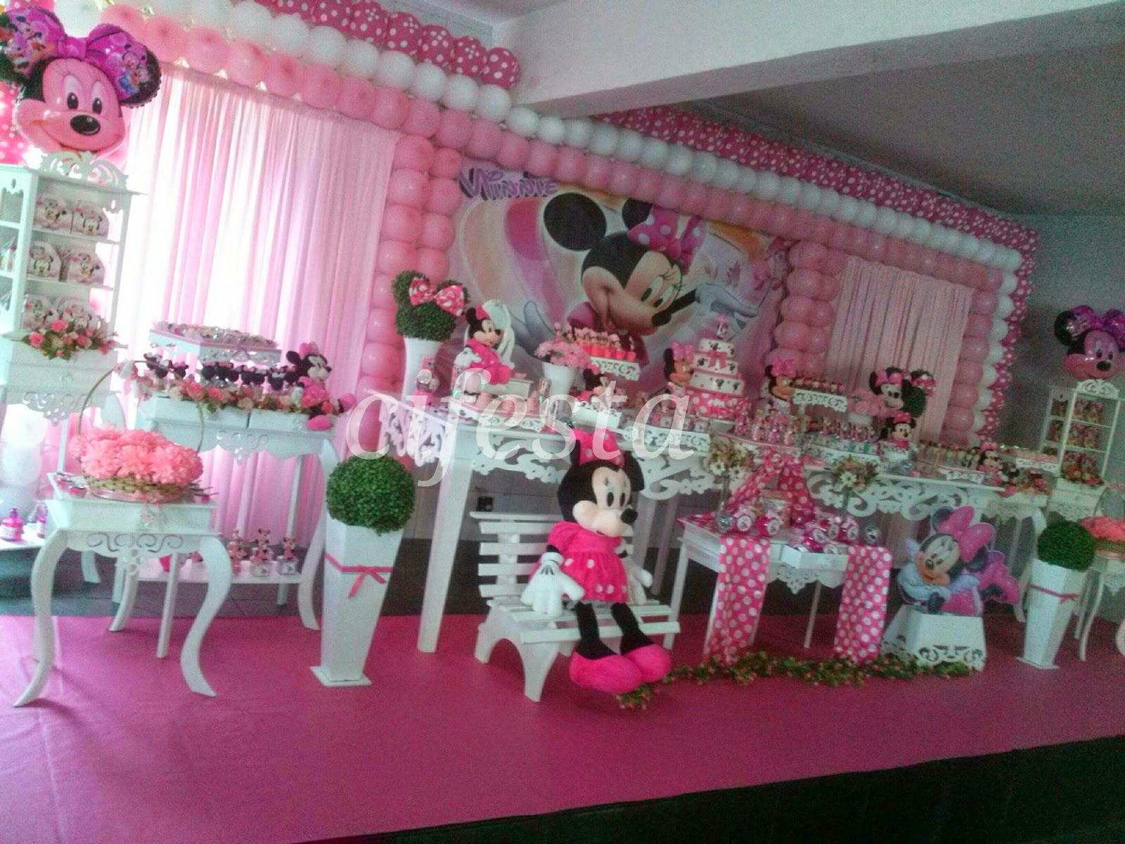 Decoração Minnie rosa  CIFESTA DECORAÇÕES