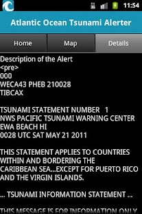 Atlantic Ocean Tsunami Alerter - screenshot thumbnail