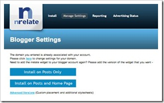 nrelate blogger manage settings