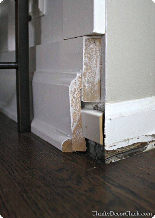 covering baseboards