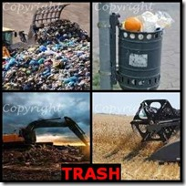 TRASH- 4 Pics 1 Word Answers 3 Letters
