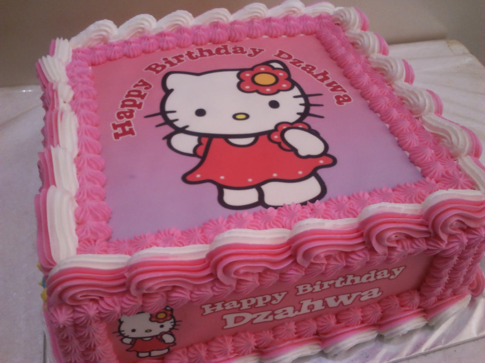 Toko Kue Bolu Enak Hello Kitty Edible Image Birthday Cake