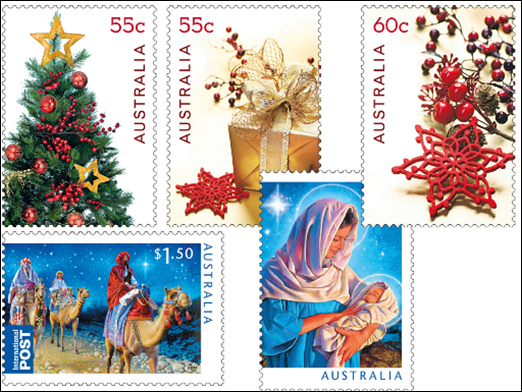 Christmas In Australia Date.Rainbow Stamp Club New Stamps On Christmas