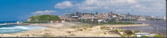 Newcastle Panorama from Nobbys Lighthouse