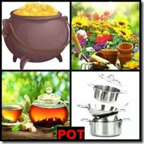 POT- 4 Pics 1 Word Answers 3 Letters
