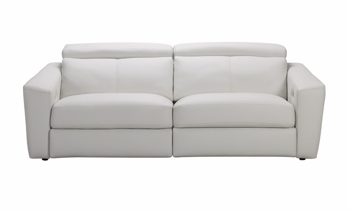 Sof de piel blanco lo pondr as en tu sal n for Kibuc sofas