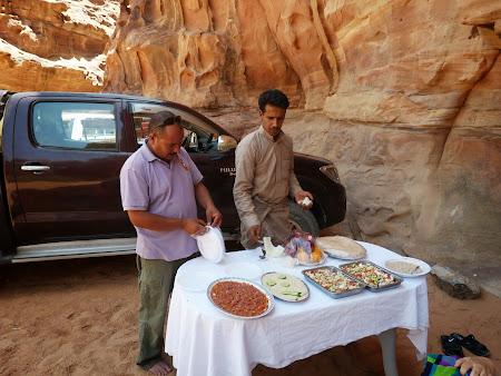 Bufet in Wadi Rum