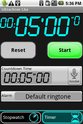 UltraChron Stopwatch Lite- screenshot