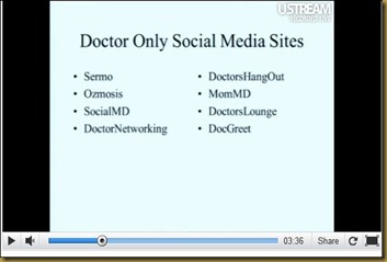 doctors only social media sites