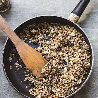 Stovetop Maple Macadamia Granola