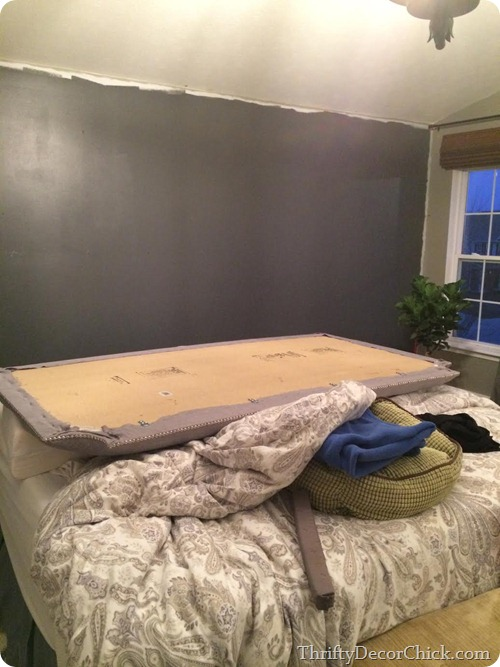 Dark Accent Wall Behind Bed