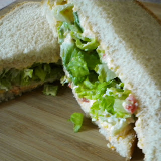 A Dressed Up Lettuce Sandwich.