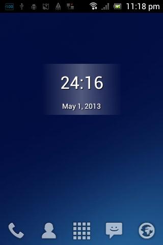 25時間時計ウィジェット