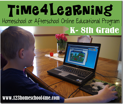Time4Learning Homeschool or afterschool Online Educational Program Kindergarten - 8th grade