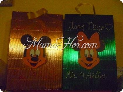 bolsa minnie mickey mouse fiesta infantil cumple 412