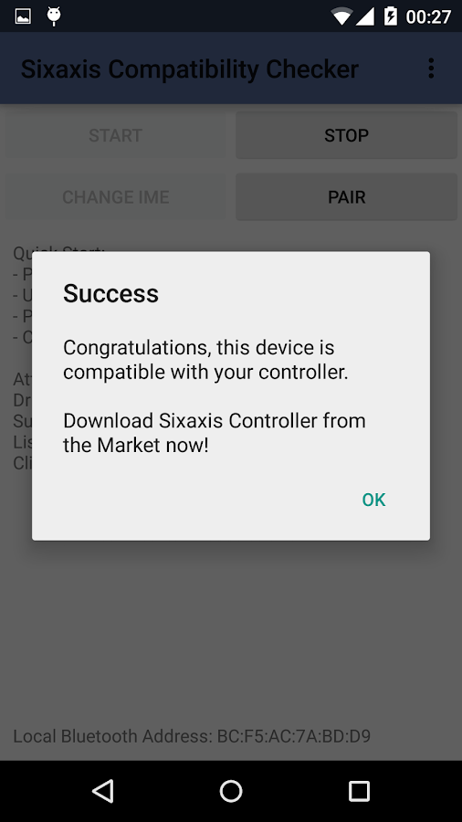 Sixaxis Compatibility Checker- screenshot