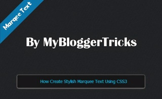 CSS3 Marquee text for blogger