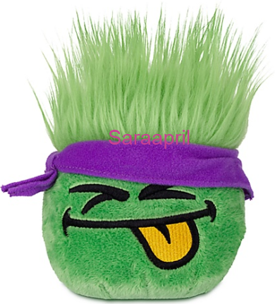 Green Puffle Plush with Purple Bandana :)