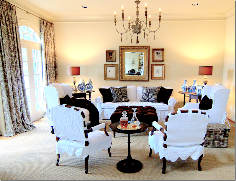Here I Used The Italian Chandelier In This Client S Family Room Lamps Are From Aidan Gray Too