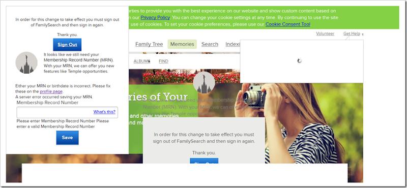 这FamilySearch.org photo upload page failed