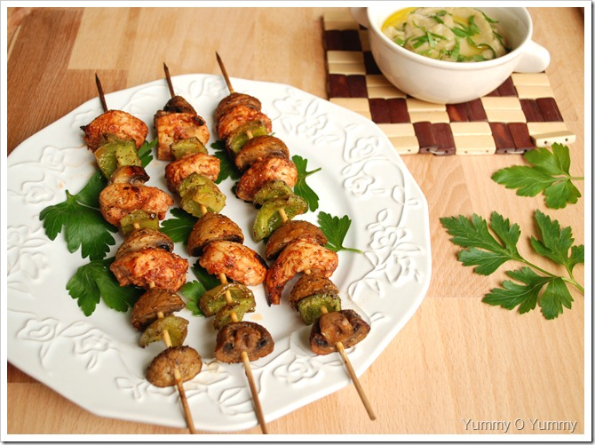 Lebanese Chicken Kebabs