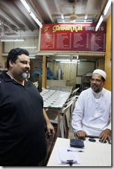 Kurush with Mr Shabbir, the second gen owner of the 60 yr old shop