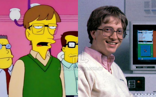 Foto de la version Simpson de Bill Gates