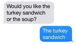 Turkeysandwich or soup