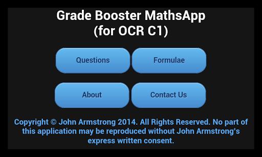 A Level Maths App OCR C1